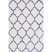 Bakero Chain Hand-Knotted Dark Blue Area Rug