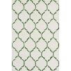Bakero Chain Hand-Knotted Green Area Rug