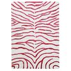 Bakero Zebra Hand-Knotted Red Area Rug