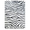 Bakero Zebra Hand-Knotted Black Area Rug
