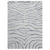 Bakero Handgeknüpfter Teppich Zebra in Silber