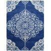 Bakero Kirman Hand-Tufted Dark Blue Area Rug