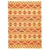 Bakero Sari Hand-Knotted Orange Area Rug