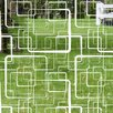 Odhams Press Retro Squares Decorative Window Film