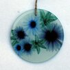 Radiant Art Studios Floral Cascade Frosted Glass Ornament