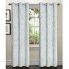 Window Elements Elinor Linen Blend Jacquard Grommet Curtain Panel (Set of 2)