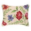 Three Posts Brookwood Flower Hook Wool Throw Pillow