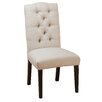 Three Posts Tufted Linen Side Chair (Set of 2)