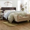 Three Posts Wingback Queen Panel Bed in Stone