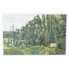 "Three Posts ""Poplars"" by Paul Cezanne Painting Print on Wrapped Canvas"