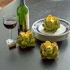 Three Posts Decorative Artichoke Tea light Holder (Set of 2)