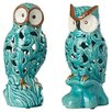 Three Posts 2 Piece Ceramic Owl Figurine Set