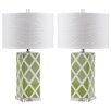 """Three Posts Benton 27"""" H Table Lamp with Drum Shade (Set of 2)"""