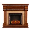Three Posts Earlville Stone Look Electric Fireplace