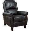 Three Posts Deerfiled PU Leather Recliner Club Chair