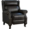 Three Posts Fremont Push Back PU Leather Recliner