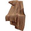 Three Posts Machias Cable Knit Throw