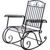 Three Posts Snowberry Iron Outdoor Porch Rocking Chair