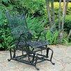 Three Posts Snowberry Iron Single Patio Glider Chair