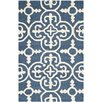 Three Posts Byron Blue Navy/Ivory Area Rug