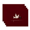 Three Posts Holiday Peace Dove Animal Print Placemat (Set of 4)
