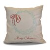 Three Posts Decorative Holiday Word Print Outdoor Throw Pillow
