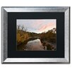 Three Posts Rocky River Autumn Sunset Framed Photographic Print