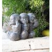 No Evil Shaolins Statue - Garden Age Garden Statues and Outdoor Accents