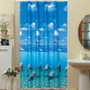 Beytug Textile Dolphin Shower Curtain