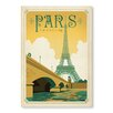 Americanflat Poster Paris, France by Anderson Design Group, Retro-Werbung