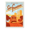 Americanflat San Francisco by Anderson Design Group Vintage Advertisement in Orange