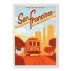 Americanflat Leinwandbild San Francisco, Retro-Werbung