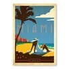 Americanflat Miami by Anderson Design Group Vintage Advertisement Wrapped on Canvas