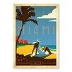 "Americanflat Leinwandbild ""Miami"" von Anderson Design Group, Retro-Werbung"
