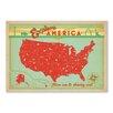 "Americanflat Leinwandbild ""Explore America"" von Anderson Design Group, Grafikdruck"
