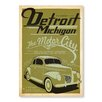 Americanflat Detroit Michigan by Anderson Design Group Vintage Advertisement in Green