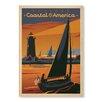 Americanflat Leinwandbild Explore Coastal America, Retro-Werbung