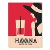 Americanflat Havana, Hotel De Cuba by Alan Walsh Vintage Advertisement in Red