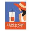 Americanflat Poster Cote D'Azure, Retro Werbung Station Balneaire von Alan Walsh