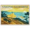 Americanflat Poster Coastal California, Retro Werbung von Anderson Design Group
