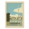 Americanflat Toronto Canada by Anderson Design Group Vintage Advertisement Wrapped on Canvas