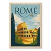 "Americanflat Leinwandbild ""Rome"" von Anderson Design Group, Retro-Werbung"