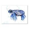 Americanflat Tortoise Blue by Suren Nersisyan Art Print in Blue