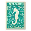 Americanflat Seahorse Pattern Print by Anderson Design Group Graphic Art in Turquoise