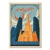 Americanflat Poster Chicago, Retro-Werbung von Anderson Design Group