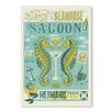 Americanflat Poster Seahorse Saloon by Anderson Design Group, Grafikdruck