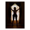 Americanflat Window Girl by Lina Kremsdorf Photographic Print in Black