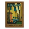Americanflat Poster Chicago Magnificent Mile by Anderson Design Group, Grafikdruck