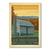 Americanflat Poster National Park Great Smoky Mountains, Retro-Werbung von Anderson Design Group