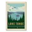 Americanflat Poster National Park Lake Tahoe, Retro-Werbung von Anderson Design Group